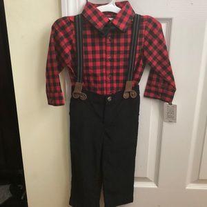 Plaid shirt with Corduroy pants